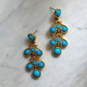 Kenneth Jay Lane Turquoise Chandelier Earrings